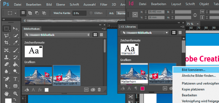 Adobe Stock und Adobe CC grunderneuert mit integriertem Zugriff auf die Bilddatenbank