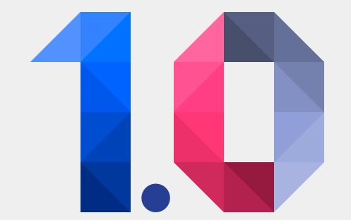 Polymer Version 1.0 (logo)