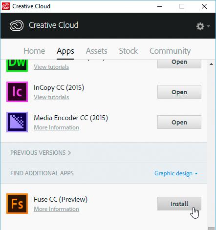 Adobe Fuse herunterladen