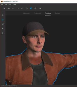 Ein 3D-Modell in Adobe Fuse