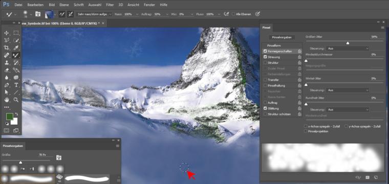 Das Misch-Pinsel-Werkzeug in Photoshop richtig nutzen