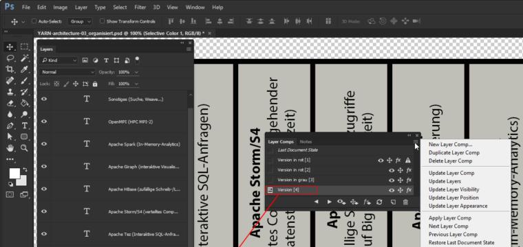 Ebenenkompositionen in Photoshop nutzen: mehrere Alternativen eines Designs in einer Datei aufbewahren
